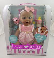 Luvabella African American Black Dark Brown Hair Responive Baby Doll 6028851
