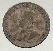1920 - CEYLON now SRI LANKA  - Silver 10 Cents - under UK King GEORGE V - i56866