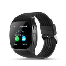 Android Bluetooth Smart Watch Unlocked Cell Phone Camera For Android Black