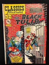 CLASSICS ILLUSTRATED #73 The Black Tulip Alexandre Dumas (HRN 75) 1st 1950 VG+