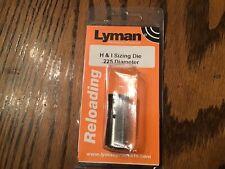 Lyman Sizing Die .225 #2766463 New