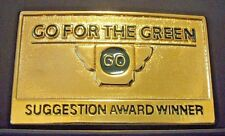 1987 John Deere Employee Suggestion Award Winner Belt Buckle Go For the Green