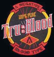 "Tru Blood Logo TV Series  4"" Costume Patch- FREE S&H  (TBPA-001)"