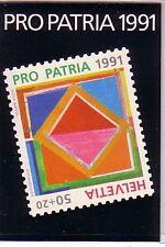 Schweiz Pro Patria 1991 Markenheft Michelnummer 0-90