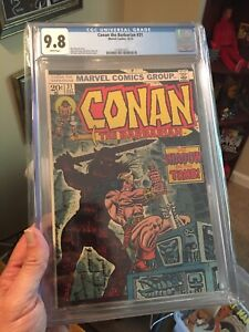 Conan #31 CGC 9.8 White Pages! Hard to Find High Grade! Shadow On The Tomb!