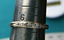 14KT Yellow GOLD 2MM BAND with Diamonds size 6 #1784