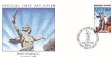 W50 1-1 Isole Marshall FDC COVER 1992 battaglia di Stalingrado 1942