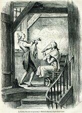 La toilette nel 1700.Parrucche incipriate.Parrucchiere.Costumi.Passepartout.1864