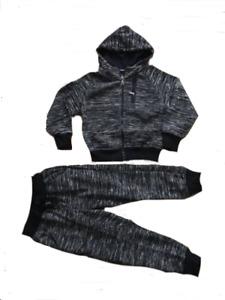 Boy Kids Jog Suit Tracksuit 4-14 years Zip Hoodie 2 piece NEW
