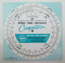 vintage 1963 Speed Time Distance Computer Slide Wheel Chart Marine Products 6""