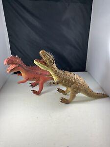 "Disney's Animal Kingdom Carnotaurus Dinosaur Dinoland Rubber Toy 12""  Ferocious"