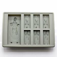 2018 Gray Star Wars Han Solo Mould Silicone Ice Cube Tray Cookie Cake Whisky
