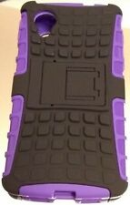 Brand New ( LG Nexus 5 ) Purple / Black Rugged Grenade Grip Hard Case Cover