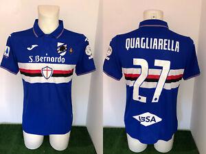 Quagliarella Sampdoria Maglia Preparata Serie A 2019 2020 Match Worn Shirt