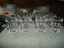 Set of 12  clear glass Arcoroc France Drinking Juice Glasses ~ beverage tumbler