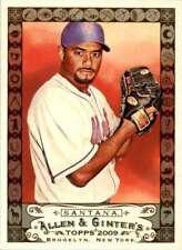 2009 Topps Allen & Ginter Code Johan Santana #210 New York Mets