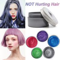 Unisex Colorful Silver Grey Color Hair Wax Men Women Dye Gray Mud styling Makers