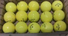 "15 Callaway ""Chrome Soft Yellow"" Golf Balls Mint Aaaaa"