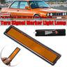 For BMW E30 E32 E34 3 Series L/R Replacement Rear Bumper Side Marker Light Amber