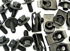 Bolts & U-nut Clips- M6-1.0 x 16mm Long- 10mm Hex- 40 pcs (20ea)- LD#379F