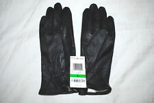 CHARTER CLUB WOMENS GENUINE LEATHER GLOVES BLACK MEDIUM & LARGE RP $78.50 NWT