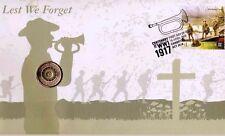 Australia: 2017 $2 ANZAC REMEMBRANCE MULTI-COLOUR $2  LEST WE FORGET PNC