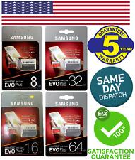 Samsung Micro SD 8,16,32,64GB Class10 U3 Flash Memory Card w/SD Adapter EVO Plus