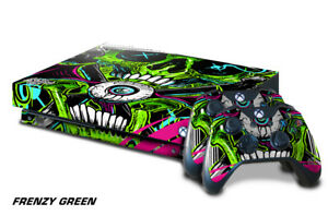 Xbox One X Console Skin with 2 Controller Decals FRENZY halloween decal sticker