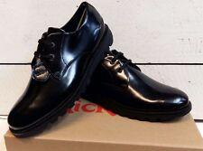 Men's Kickers Black Leather Lace Up Shoes
