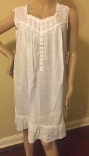 Eileen west nightgown 100% Cotton  Swiss dot 3X No sleeves  Short