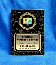 Virtual Teacher Custom Personalized Award Plaque Gift Pandemic Online School BLK