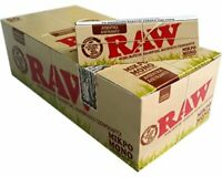 1 BOX CARTINE RAW ORGANIC  SINGLE WIDE CORTE CANAPA BIOLOGICA  DA 50 LIBRETTI