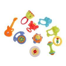 Lot de 10pcs Hochets Coloré En Plastique Jeux de Son Jouet Cadeau Pour