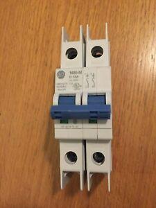 Allen-Bradley 1489-M2D016 SER D Molded Case Circuit Breaker / 1.6A / E197878