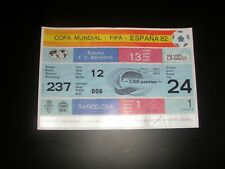 SOCCER FOOTBALL FIFA WORLD CUP 1982 TICKET GAME 1 Belgium v argentina UNUSED