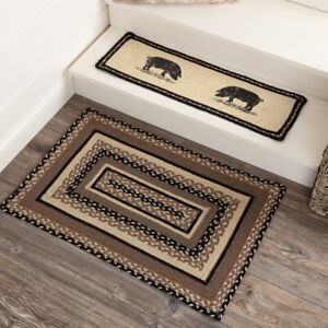 """VHC Brands Farmhouse 20""""x30"""" Accent Rug White Sawyer Mill Charcoal Floor Decor"""