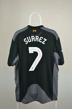 FC LIVERPOOL 2012 2013 AWAY FOOTBALL SOCCER SHIRT JERSEY WARRIOR BLACK SUAREZ #7