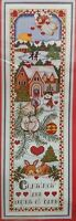 """New in Package Janlynn """"Christmas Love Begins At Home"""" Cross Stitch Kit 1996"""