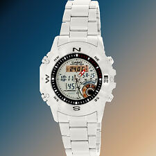 Casio Men's Hunting Timer Thermometer Stainless Steel Watch AMW-704D-7AV New