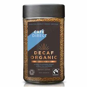 Cafedirect Decaf Organic FT Instant Freeze Dried Coffee 100g