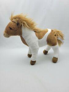 """ONE FAO Schwarz Toys R Us Plush Stuffed Paint Pony Horse EUC 12"""" Brown White"""