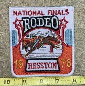 Vintage Hesston National Rodeo Finals Patch COWBOY BULL RIDING WESTERN patch