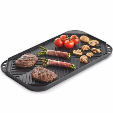 VonShef Reversible Griddle Plate Pan Aluminium Double-Sided Grill for BBQ & Hob