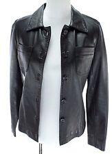 Bernini Beverly Hills Women Leather Jacket Size XS Black Lamb Naked Leather