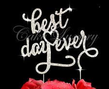 Best Day Ever - Wedding Cake Topper - Engagement Birthday Crystal Diamonte Bling