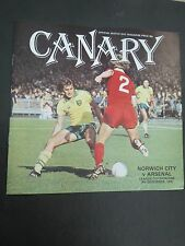 Norwich  V Arsenal  1978/9