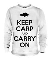 Mantenere Carpa e Carry On Divertente da Uomo T-Shirt Stampata Pesca Gift Maglia