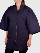 adidas by Stella McCartney Women Studio Quilted Jacket Blue Coat 3/4 Sleeve Sz L