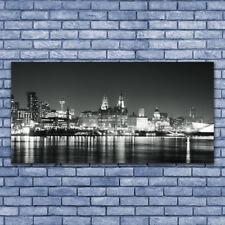 Glasbilder Wandbild Druck auf Glas 140x70 Stadt Wasser Gebäude