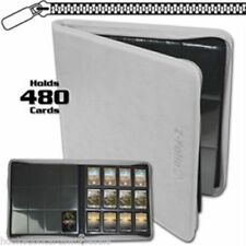 BCW Z-Folio WHITE 12 Pocket Zipper premium Binder Magic Yugioh Pokemon Vanguard